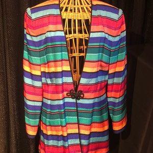 Talbots silk coat of many colors!